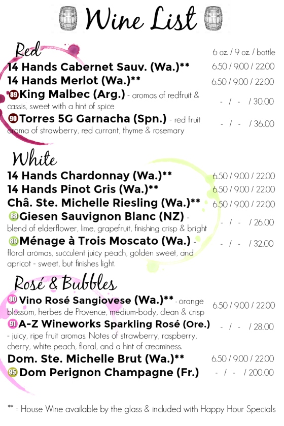 Wine Menu NEW